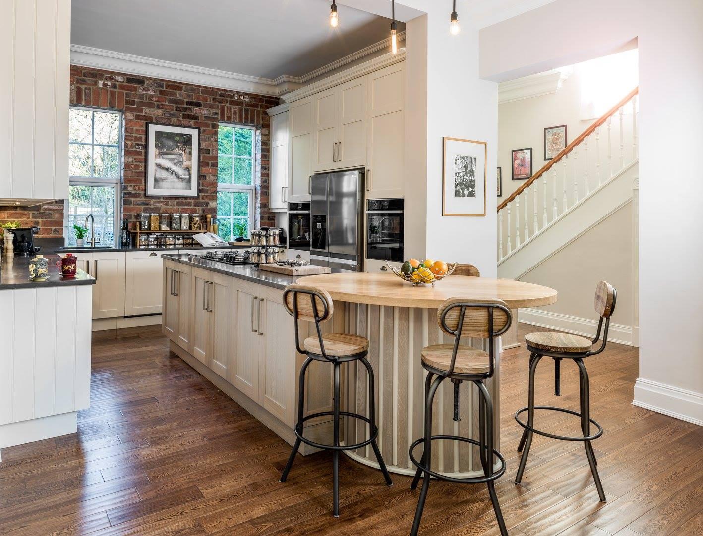 Hand painted & grey washed Oak Shaker kitchen-1.jpg
