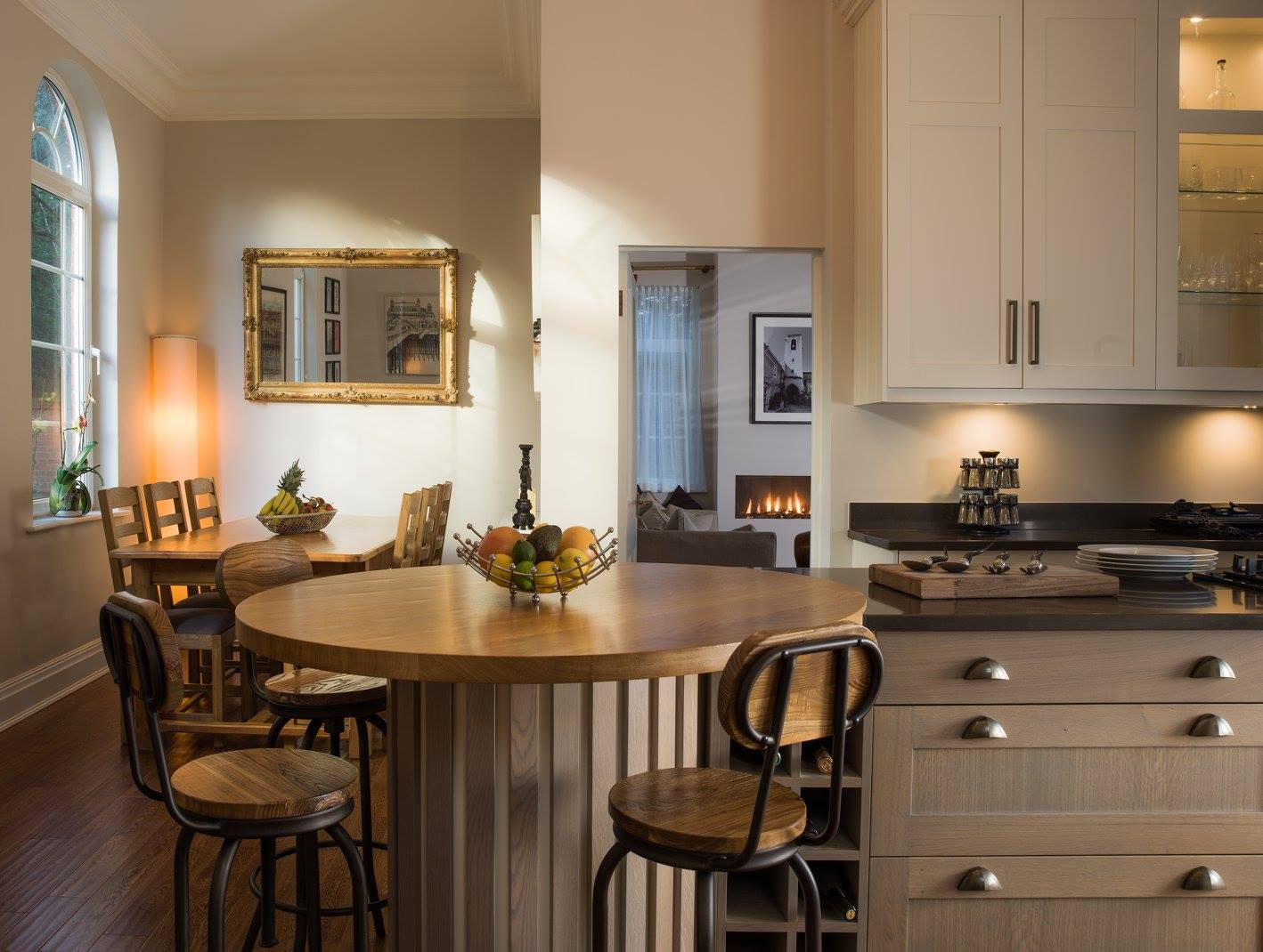 Hand painted & grey washed Oak Shaker kitchen-3.jpg