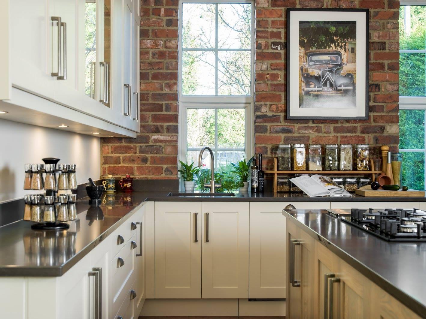 Hand painted & grey washed Oak Shaker kitchen-2.jpg