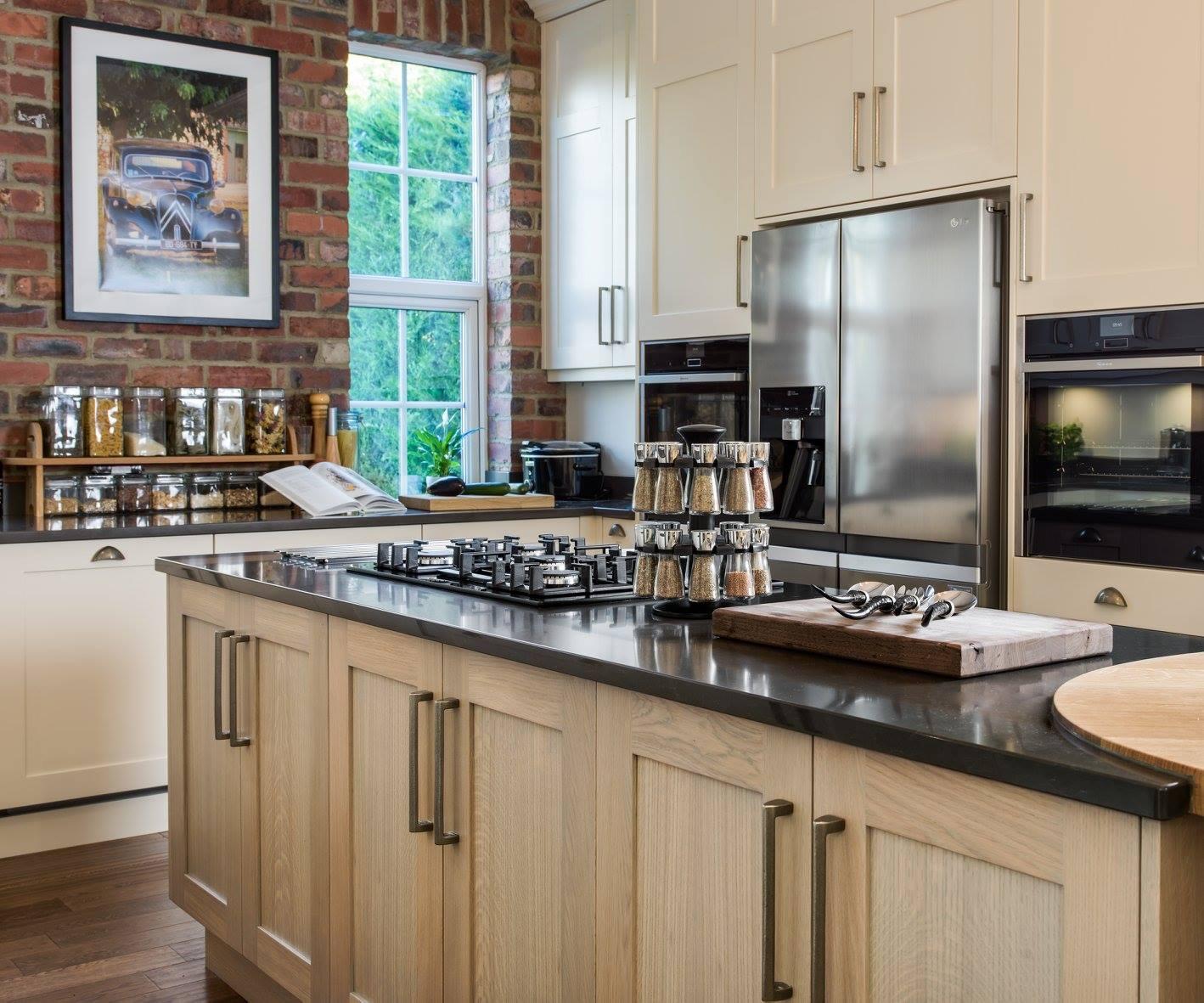 Hand painted & grey washed Oak Shaker kitchen-5.jpg