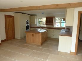 Beautiful Shaker Kitchen with Oak Island, Oxfordshire