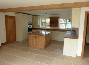 Beautiful Shaker Kitchen with Oak Island, Oxfordshire