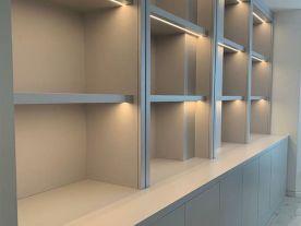 Bespoke Illuminated Bookcase Units