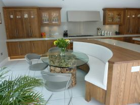 Dark Oak Shaker Style Kitchen, Mereworth, Kent